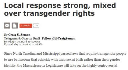 Mass Legislature Modifies Bathroom Bill Language