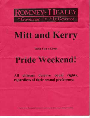 Gov. Romney Wishes You a Great Pride Weekend - All citizens deserve equal rights, regardless of their sexual preference